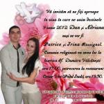 Invitatie de nunta magnet de frigider